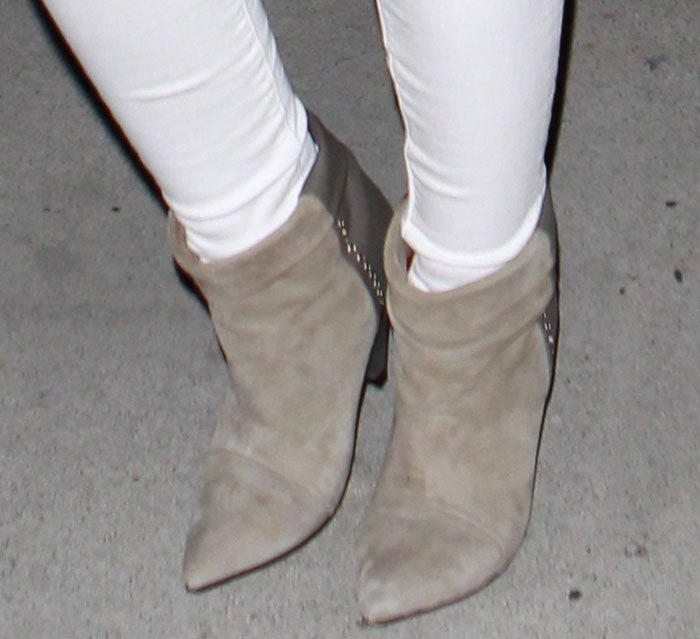Hilary Duff wears a pair of Isabel Marant boots