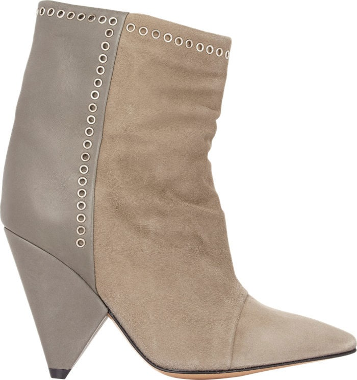 Isabel-Marant-Suede-Leather-Lance-Ankle-Boots-Taupe