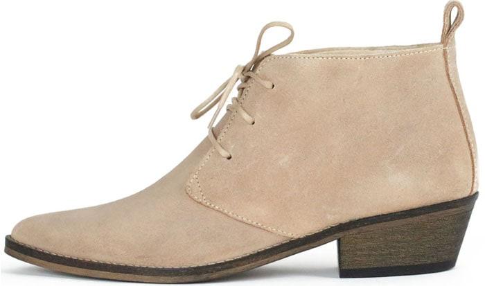 Ivylee Julia Beige Lace-Up Boots