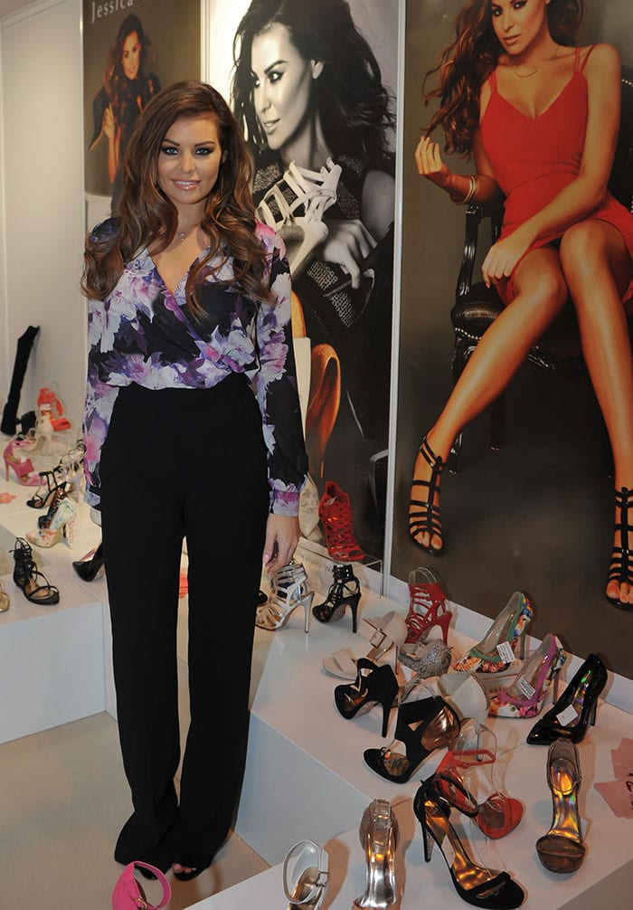 Jessica Wright launched her shoe collection in collaboration with Lacey's Footwear