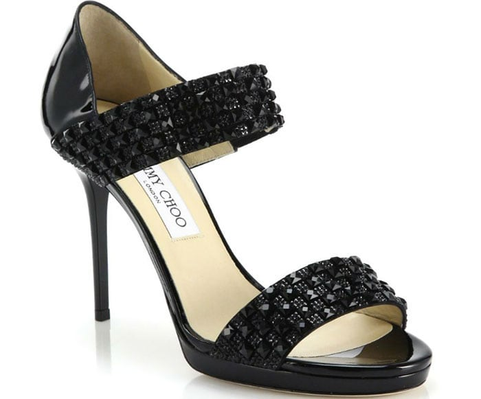 Jimmy Choo Alana Sandals Embellished