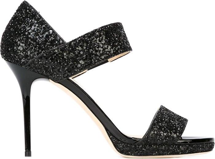 Jimmy Choo Alana Sandals Glitter