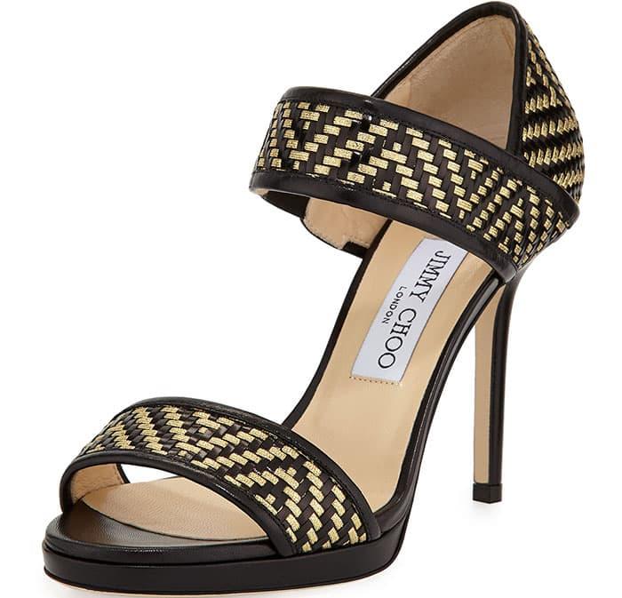 Jimmy Choo Alana Sandals Woven
