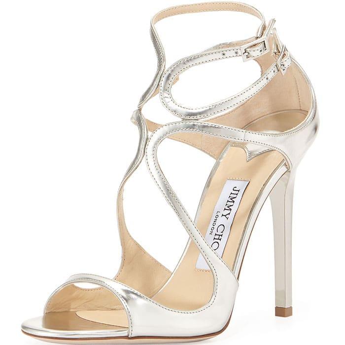 "Jimmy Choo ""Lance"" Sandals in Silver"