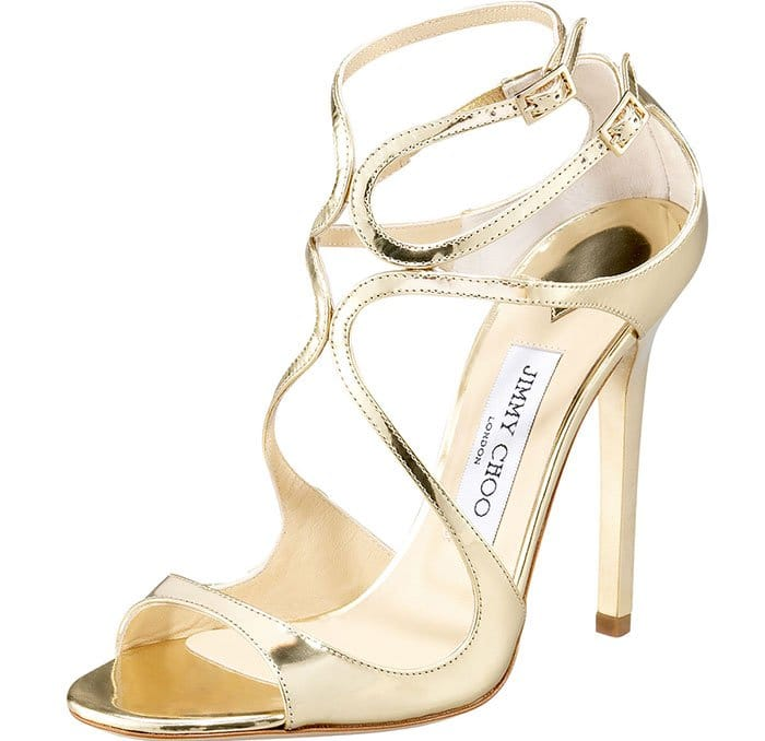 """Jimmy Choo """"Lance"""" Sandals in Gold"""