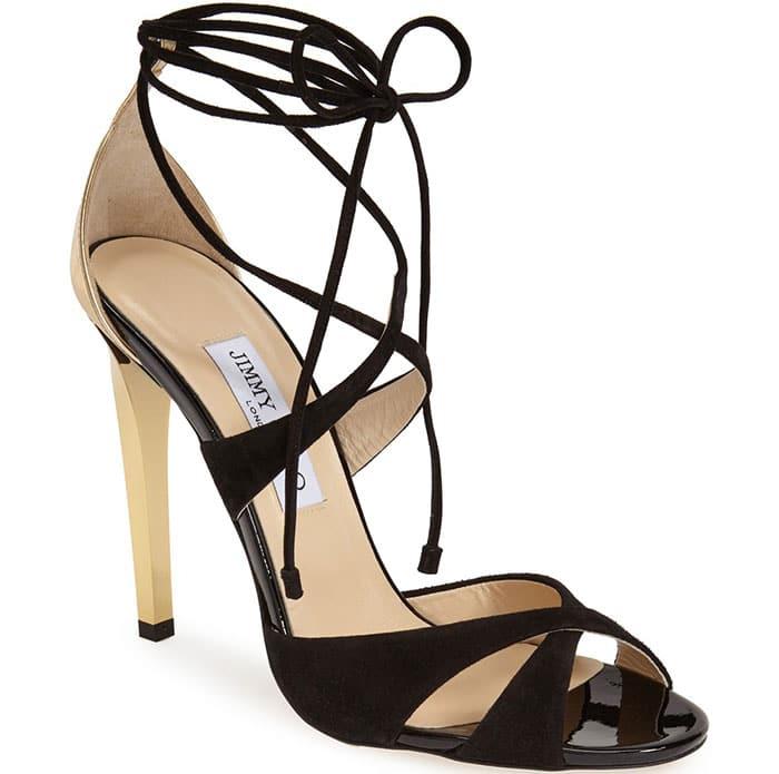 Jimmy Choo Teira Sandals Black Gold