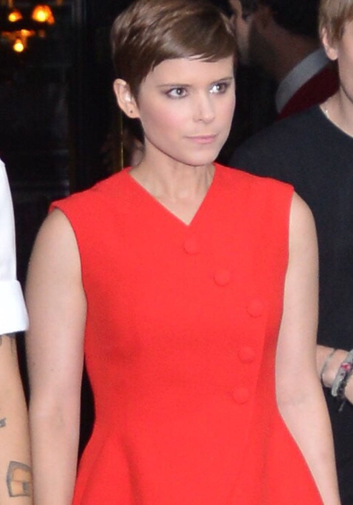 Kate Mara wore a gorgeous red dress