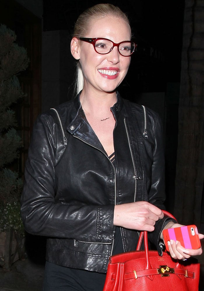 Katherine Heigl leaves Hotel Cafe after watching husband Josh Kelley perform in Los Angeles on August 24, 2015