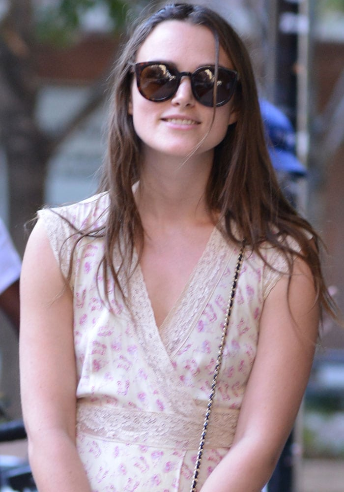 Keira Knightley steps out for a walk in Manhattan, New York on August 28, 2015