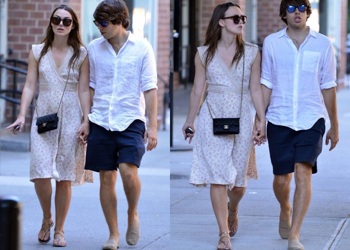 Keira Knightley and husband James Righton chat together during their New York stroll