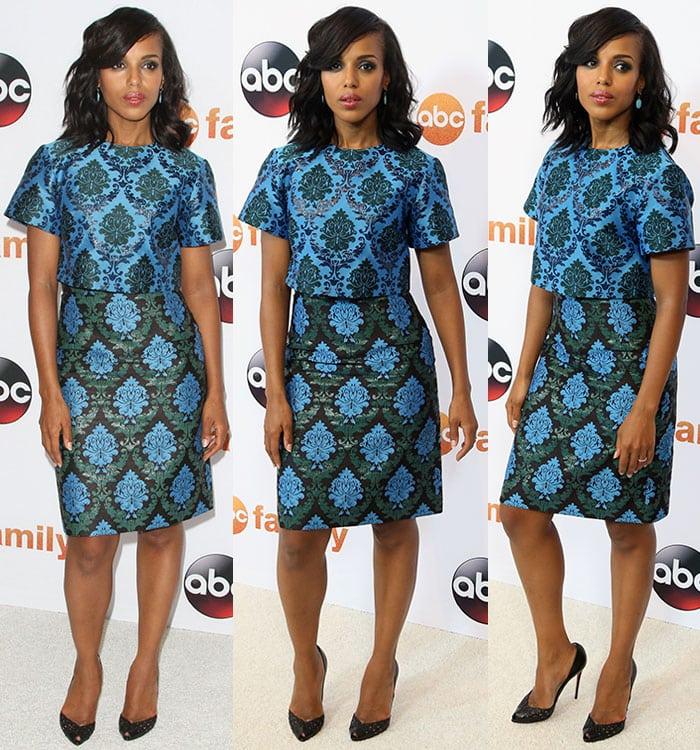 Kerry-Washington-Mary-Katrantzou-brocade-sheath-dress