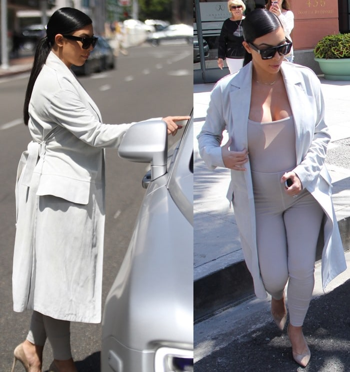 Kim Kardashian wears an all-nude outfit for an outing in Los Angeles