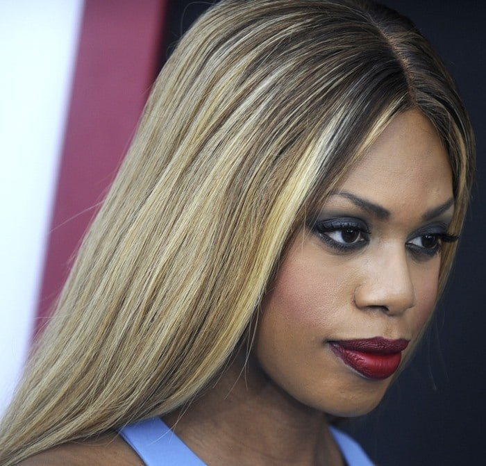 Laverne Cox at the New York premiere of 'Ricki And The Flash' at AMC Lincoln Square Theater in New York City on August 3, 2015