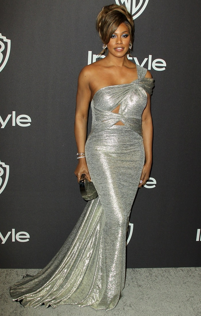 Laverne Cox at the InStyle & Warner Bros. Party held after the 2019 Golden Globe Awards at the Beverly Hilton Hotel in Beverly Hills, California, on January 6, 2019