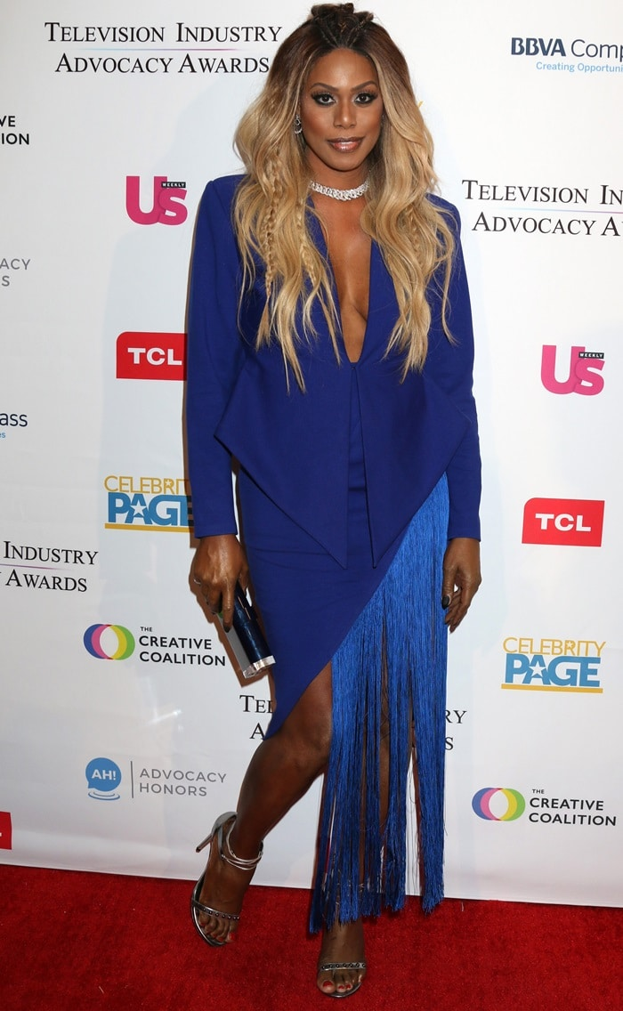 Laverne Cox's hot legs at the 2018 Television Industry Advocacy Awards