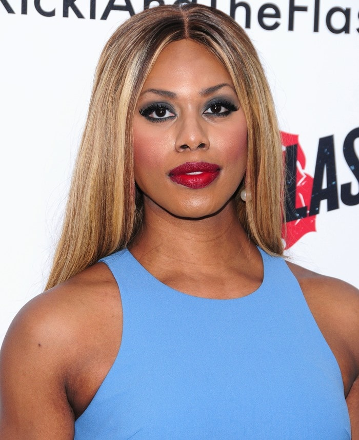 Laverne Cox's Arron mini dress from Elizabeth and James