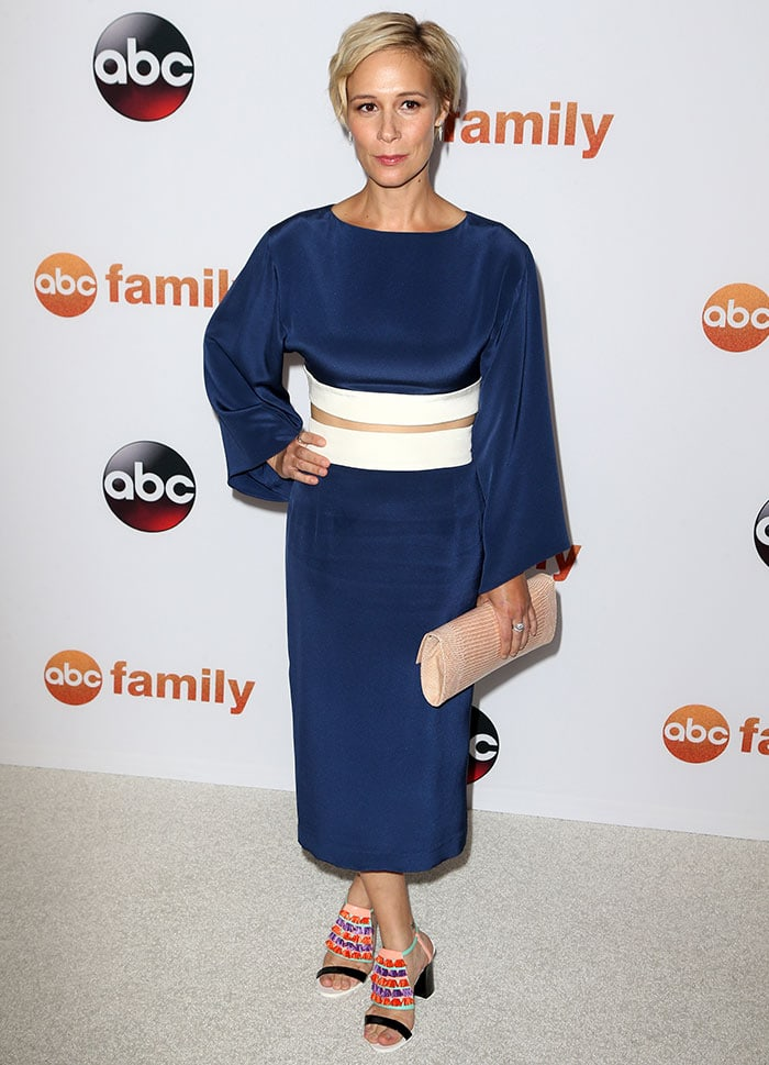 Liza Weil rocked a kimono-inspired two-piece outfit