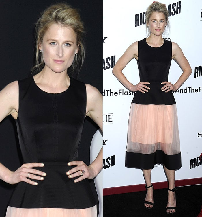 """Mamie Gummer in a Balenciaga Resort 2016 dress at the premiere of """"Ricki and the Flash"""""""