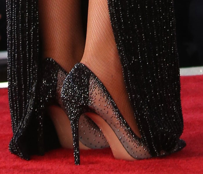 Mariah Carey's sparkling pumps by Gianvito Rossi