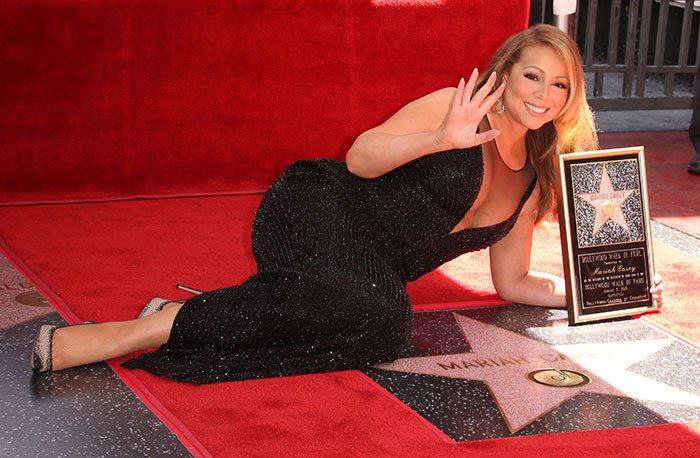 Mariah Carey was honored with the 2,556th star on the Hollywood Walk of Fame