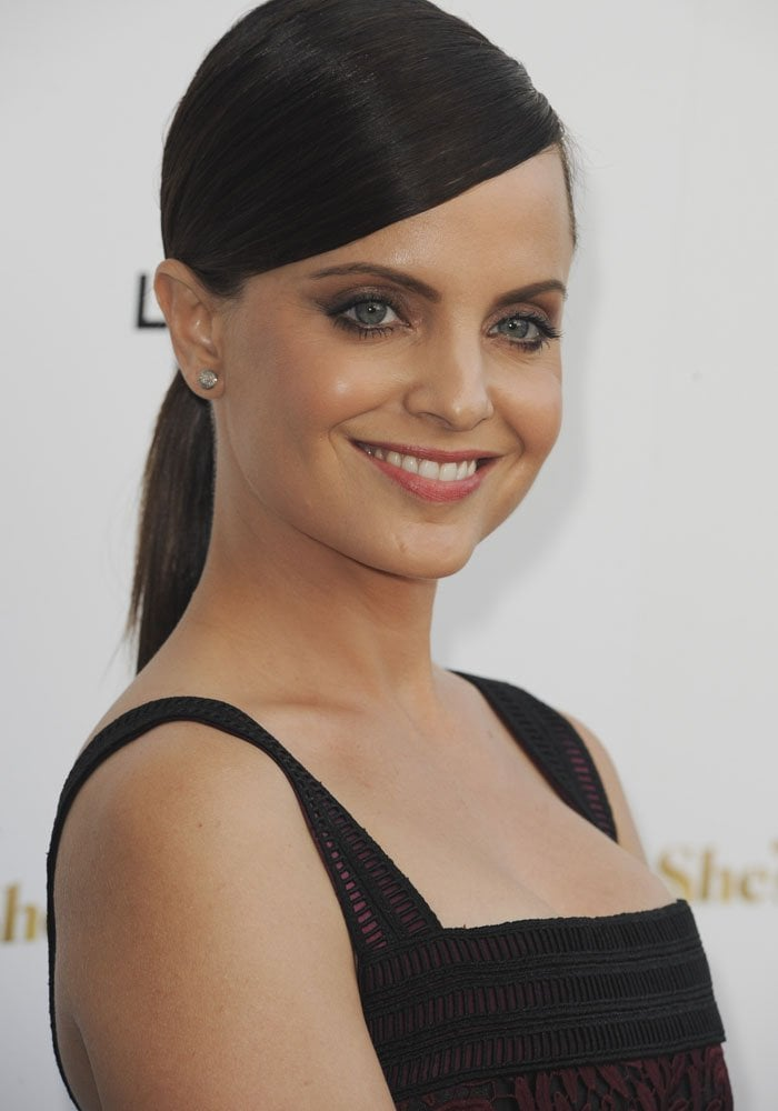 Mena Suvari attends the Los Angeles premiere of She's Funny That Way at Harmony Gold