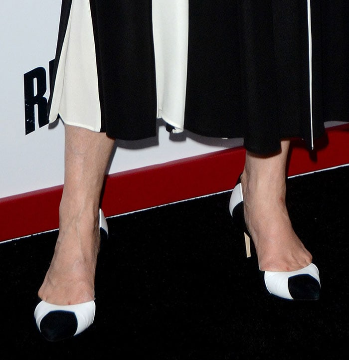 Meryl Streep's two-tone black-and-white pumps by L.K. Bennett