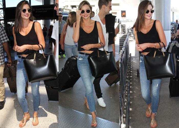 f1e72b116475 Miranda Kerr Leaves for French Getaway With Evan Spiegel