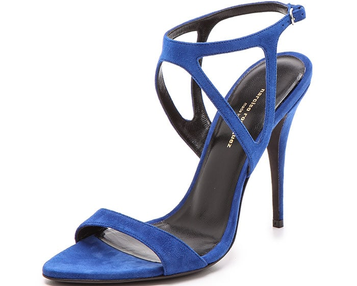 Narciso Rodriguez Carolyn Sandals Blue Suede