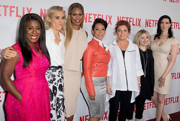"""The cast of """"Orange Is the New Black"""" at the Netflix series' FYC screening held at DGA Theater in New York City on August 11, 2015"""