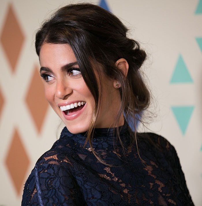 Nikki Reed's effortlessly chic and messy hairstyle