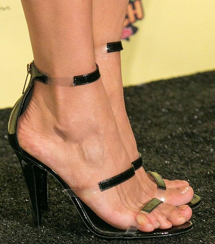 Nina Dobrev in Tamara Mellon 'Frontline' heels