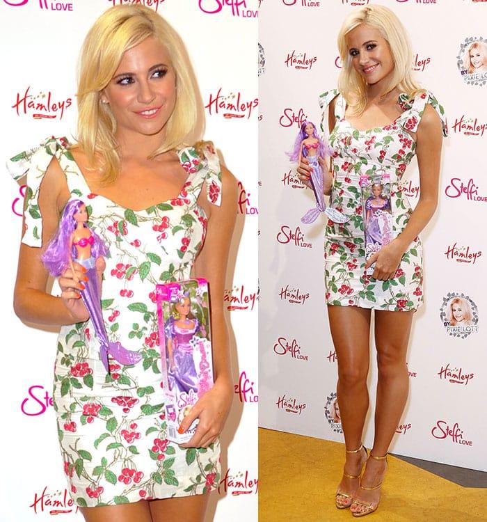 Pixie-Lott-Bambah-Boutique-cherry-printed-dress
