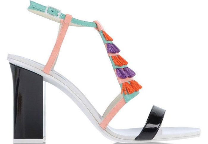 Pollini-Leather-and-Tassel-Fringe-multicolored-sandals-1