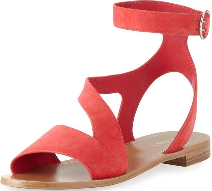 Prada Suede Ankle Wrap Sandal