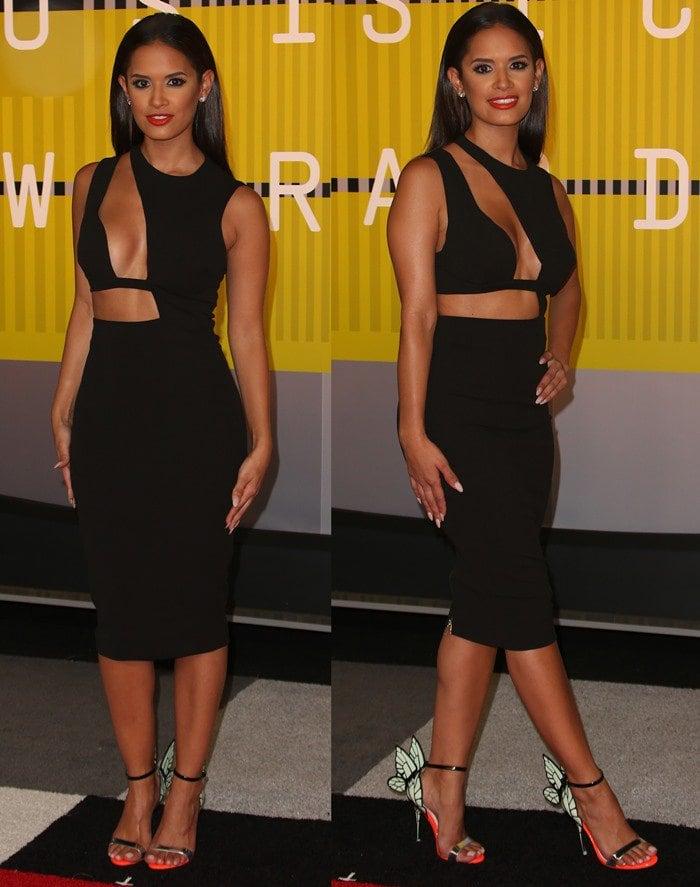 Rocsi Diaz struts the red carpet in a beautiful pair of Sophia Webster heels