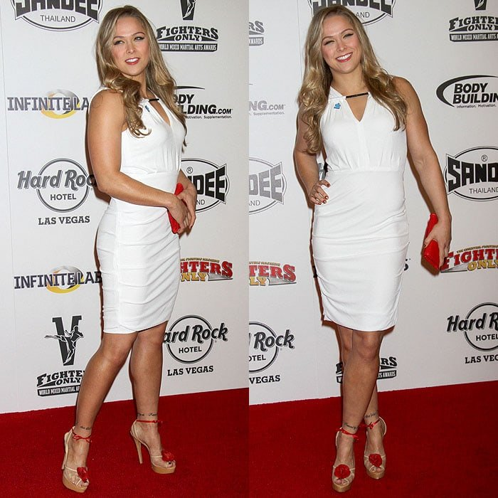 Ronda Rousey at the 2013 Fighters Only World Mixed Martial Arts Awards held at the Hard Rock Hotel and Casino in Las Vegas, Nevada, on January 11, 2013