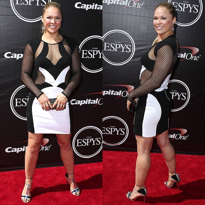 Ronda Rousey at the 2015 ESPY Awards held at The Microsoft Theatre in Los Angeles, California, on July 15, 2015