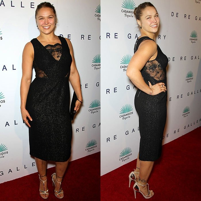 Ronda Rousey at Brian Bowen Smith's WILDLIFE Show Hosted By Casamigos Tequila in West Hollywood, California, on October 23, 2014