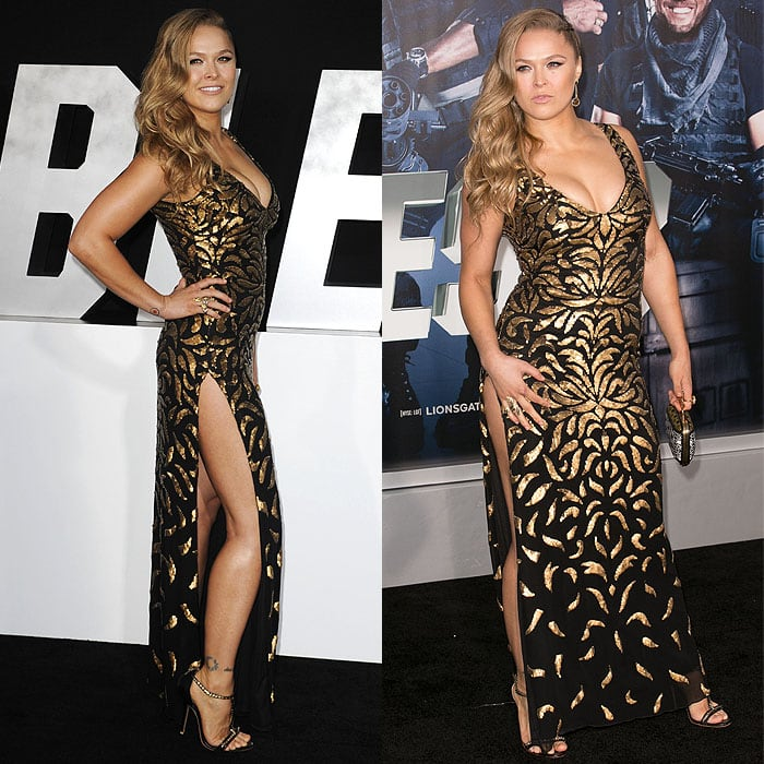 """Ronda Rousey at the Los Angeles premiere of """"The Expendables 3"""" at the TCL Chinese Theatre in Los Angeles, California, on August 11, 2014"""
