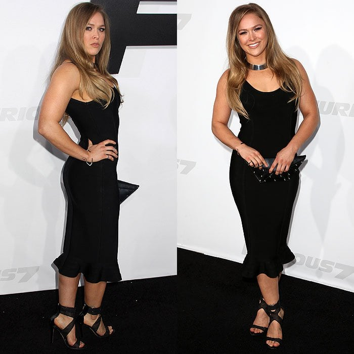"""Ronda Rousey at the premiere of """"Furious 7"""" at the TCL Chinese Theatre in Hollywood, California, on April 2, 2015"""