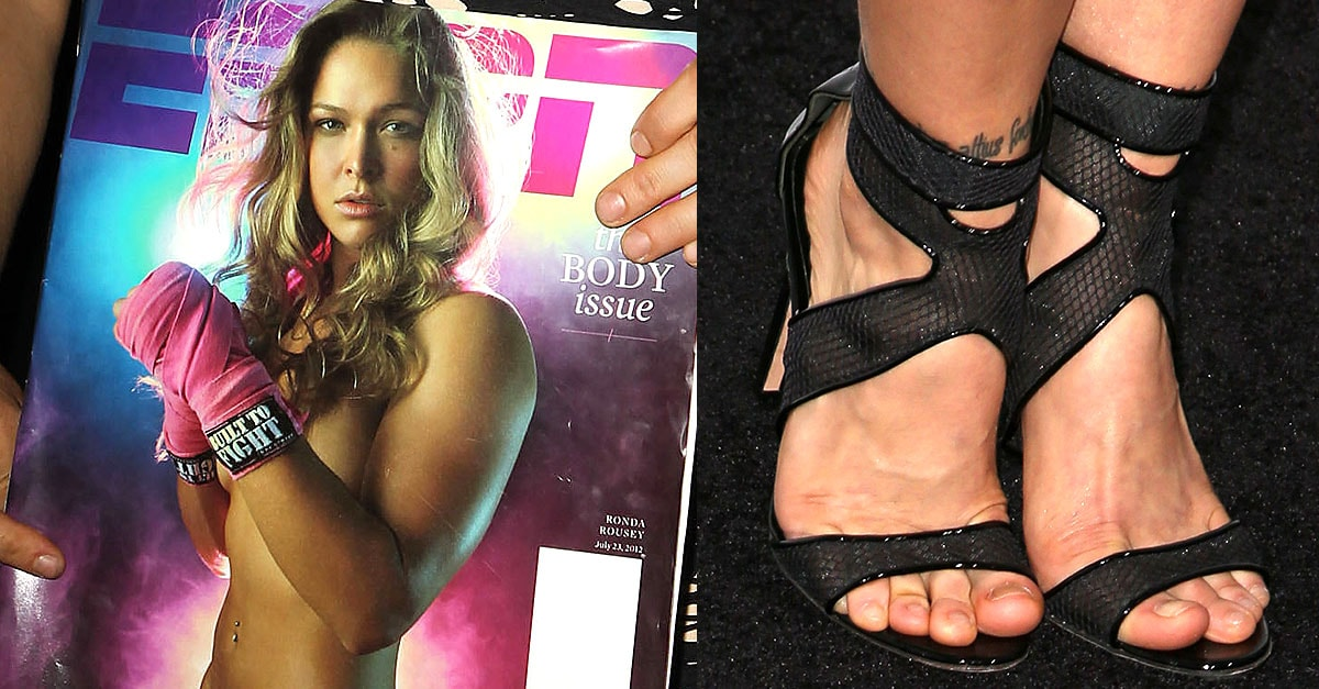 Ronda Rousey S Tattooed Feet Sexy Legs In 12 Red Carpet Dresses