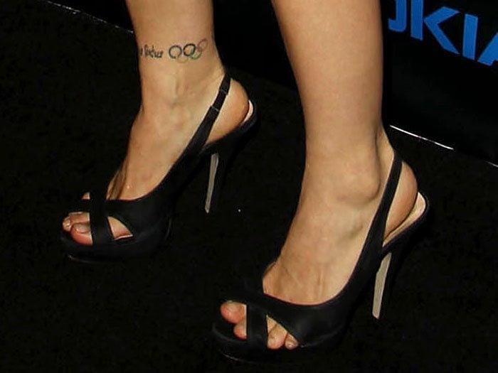 Sexy Ronda Rouseys Tattooed Feet Legs In 12 Red Carpet Dresses