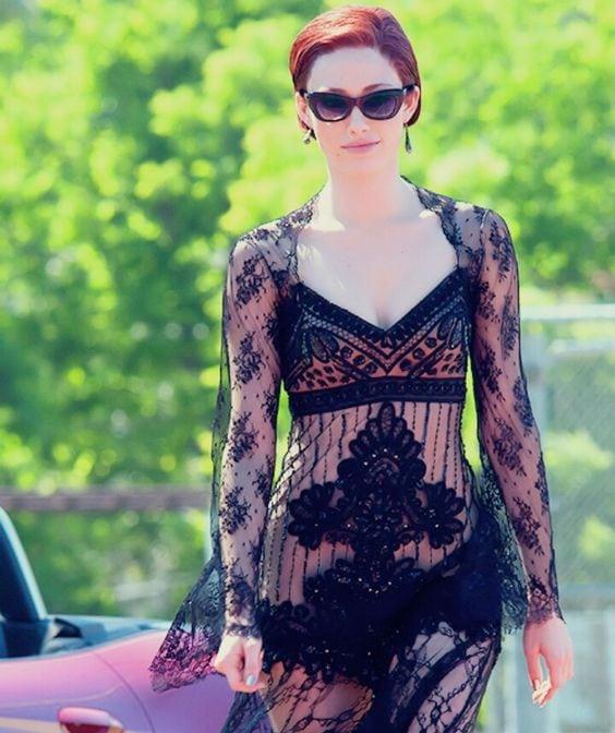 Emmy Rossum wears a dress by Jeffrey Kurland in Beautiful Creatures
