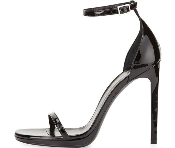 Saint Laurent Jane Patent Ankle Wrap Sandals