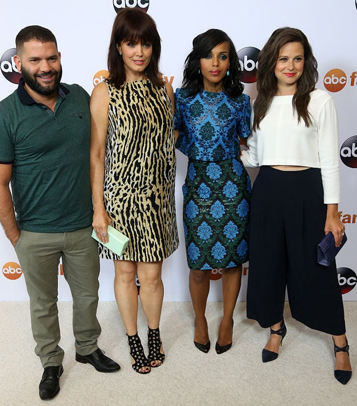 """Scandal"" stars Guillermo Diaz, Bellamy Young, Kerry Washington, and Katie Lowes"