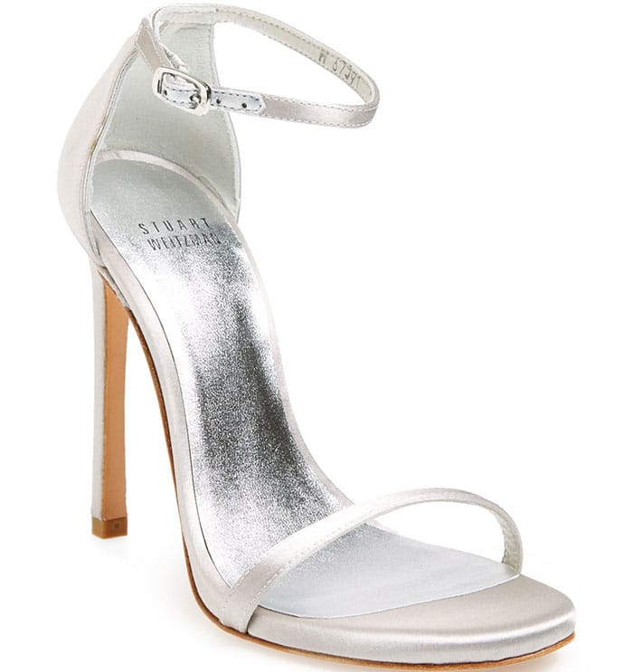 Stuart Weitzman Nudist Sandals silver