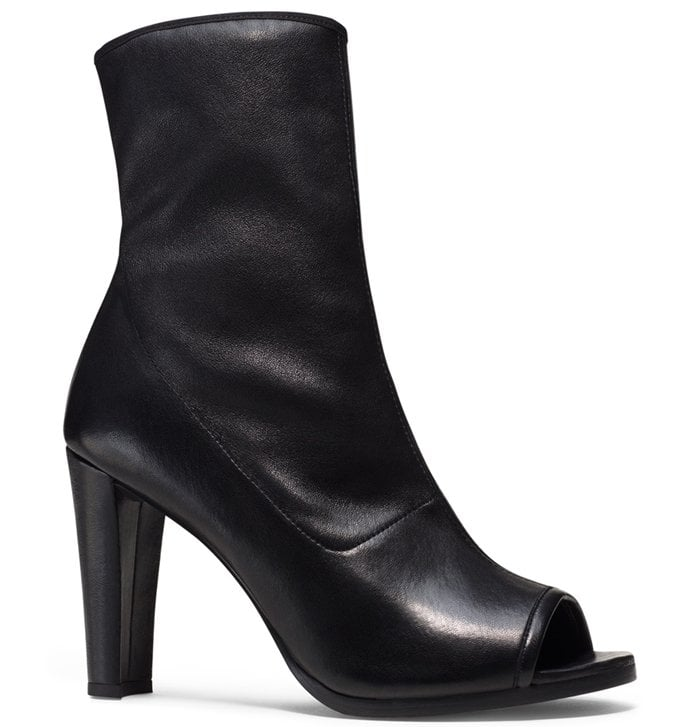 "Stuart Weitzman ""The Koko"" Boots in Nero Plonge Stretch"