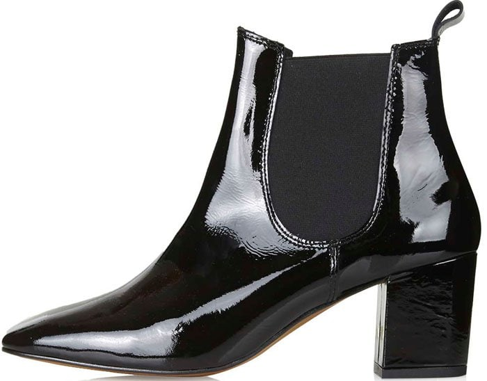 Topshop Patent Chelsea Boots