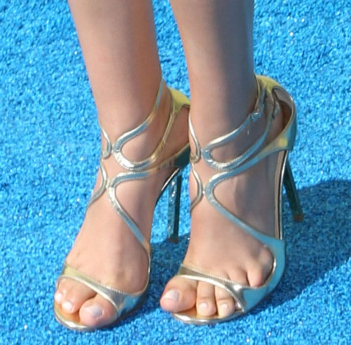 Victoria Justice in Jimmy Choo's popular Lance sandals