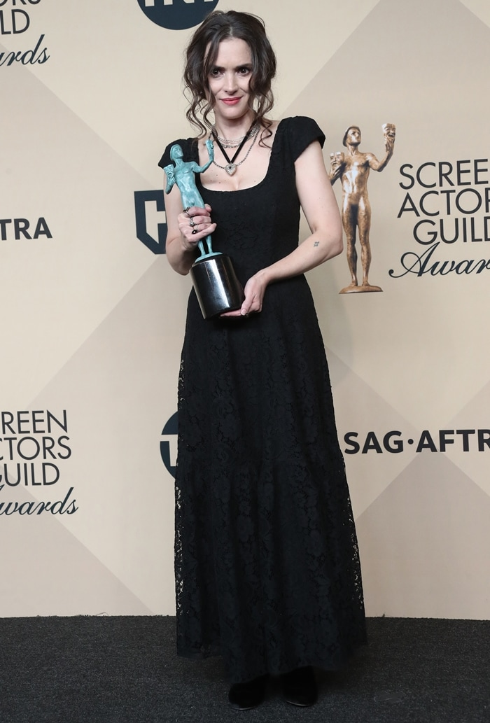 Actress Winona Ryder, who has a net worth of $18 million, attends the 23rd Annual Screen Actors Guild Awards